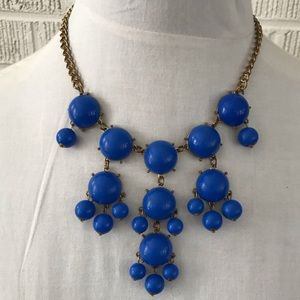 Vintage bib statement necklace cobalt blue